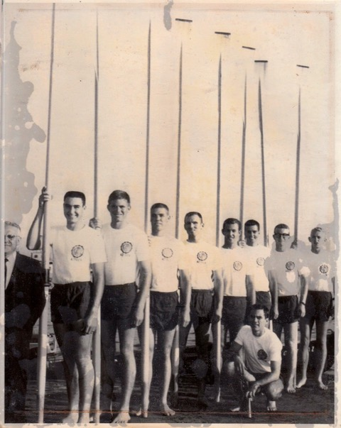 Dennis Coates with team